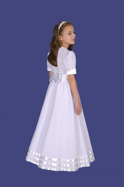 0e3af97db8 Alba komunijna sukienka kokardki - Alby komunijne
