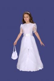 sukienka z drapowanym szyfonem