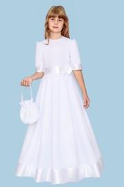 Alba komunijna sukienka atłas